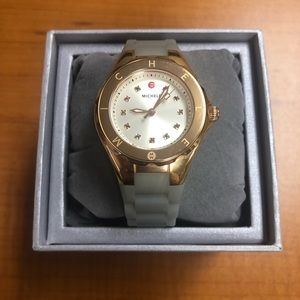Michele Tahitian Jelly Bean Grey and Rose Watch